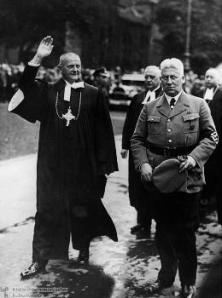 Reich Bishop Ludwig Müller, leader of the Deutsche Christen, with August Jäger