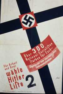 Nazi election poster with Christian imagery