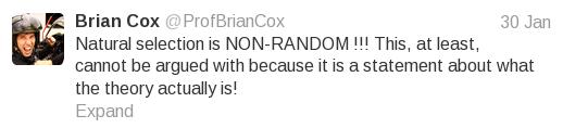 "Brian Cox ""chance"" tweet 1"