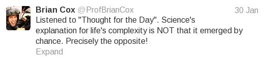 "Brian Cox ""chance"" tweet 2"