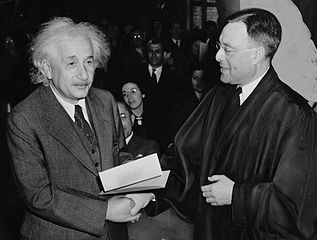 Einstein receiving American citizenship