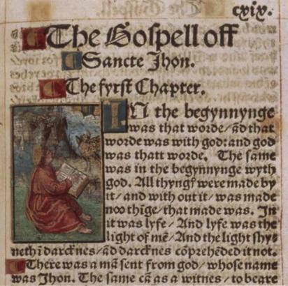 John's Gospel, Tyndale