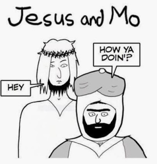 Jesus and Mo uncensored.