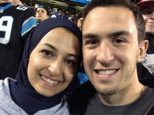 Deah Barakat, with his wife, Yusor.
