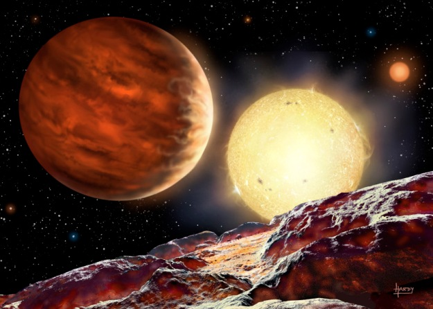 Artist's impression of exoplanet WASP-142b (credit: David A. Hardy)