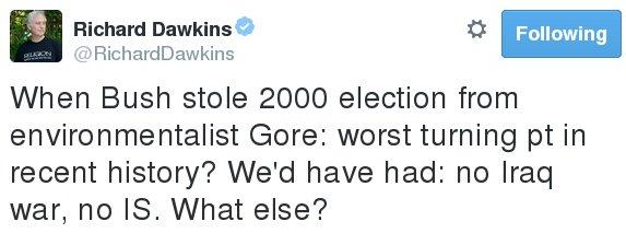 Dawkins tweet