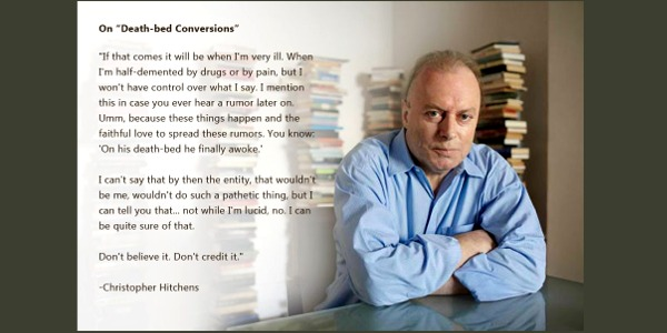 Hitchens deathbed conversion